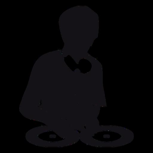 Silueta de la musica de dj Transparent PNG