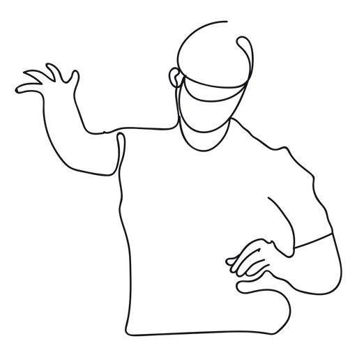 Dj outline Transparent PNG