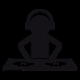Silhueta de DJ