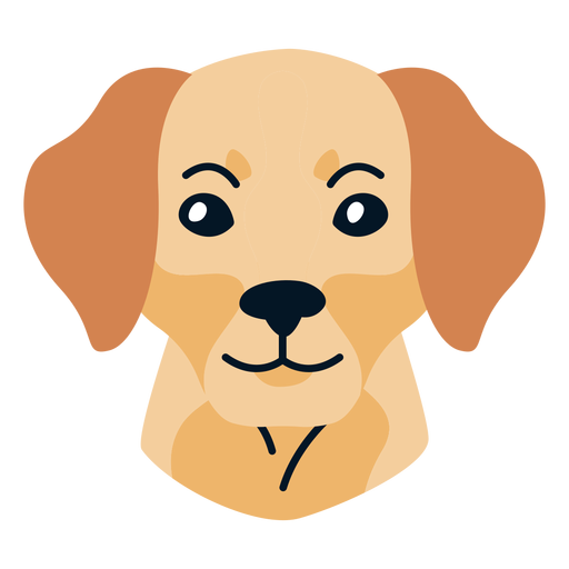 Hundewelpe flach Transparent PNG