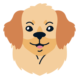 Dog puppy flat illustration