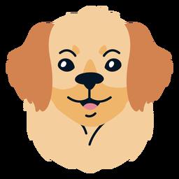 Ilustração plana de cachorro filhote