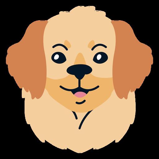 Dog puppy flat illustration