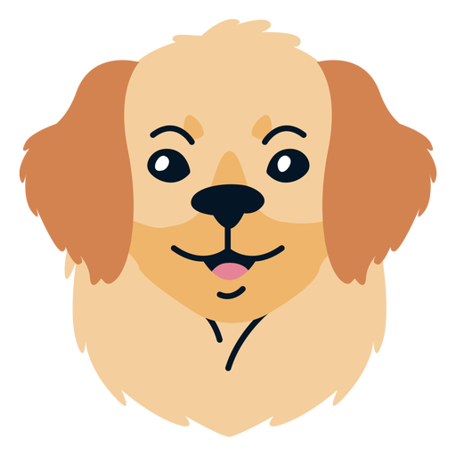 Flache Illustration des Hundewelpen Transparent PNG
