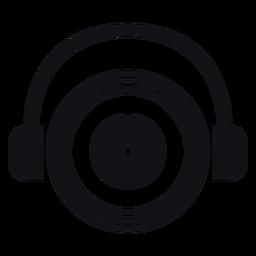 Silhueta de fones de ouvido fones de ouvido