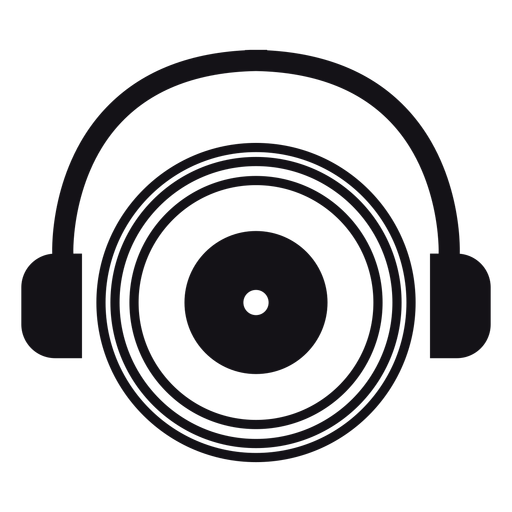 Earphones headphones silhouette Transparent PNG