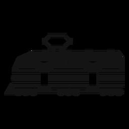 Elektrische Lokomotive Silhouette