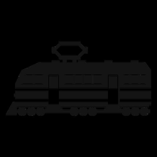 Silhueta de locomotiva elétrica Transparent PNG
