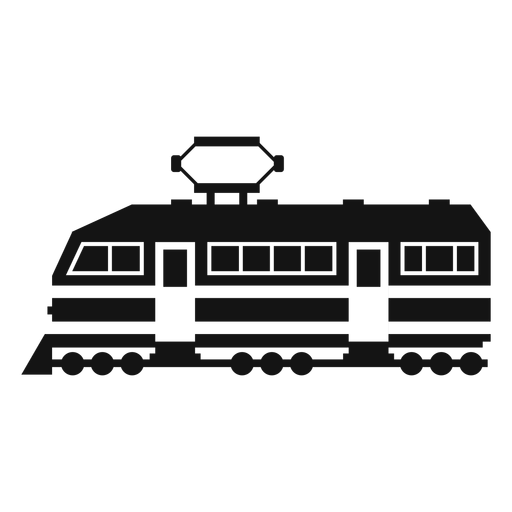 Silueta de locomotora eléctrica Transparent PNG