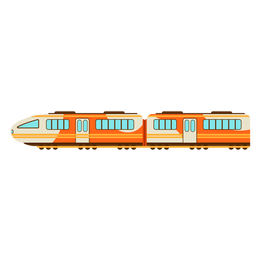 Electric train illustration Transparent PNG