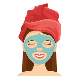 Face mask illustration
