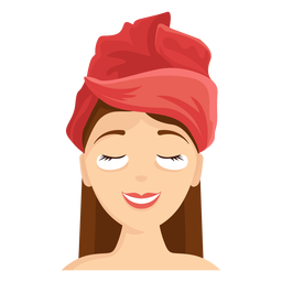 Máscara facial, toalha, ilustração