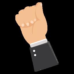 Ilustración de manga de mano de puño