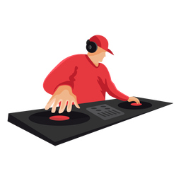 Flache DJ-Mischerillustration
