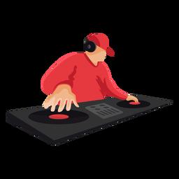 Ilustración de mezclador dj plano