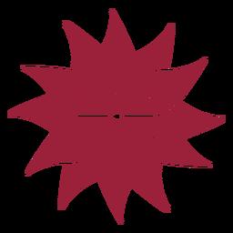 Silhueta de pétala de flor