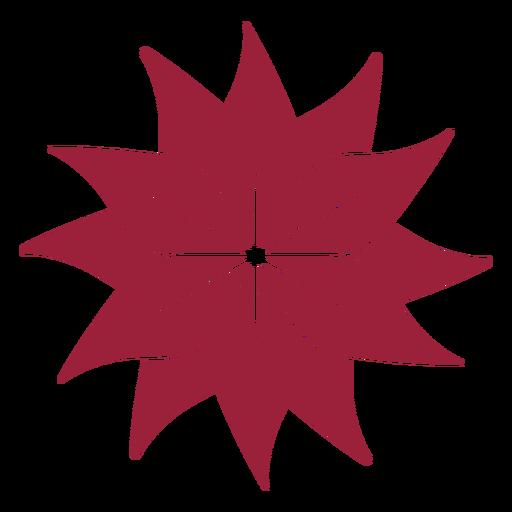 Silueta de pétalo de flor Transparent PNG