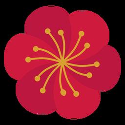 Flor estambre plano