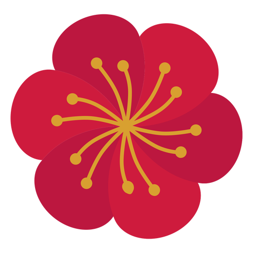 Flower stamen flat Transparent PNG