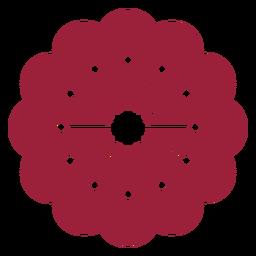 Flower stamen silhouette