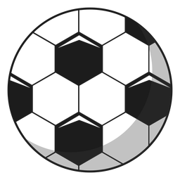 Football ball pentagon illustration