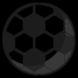 Ilustração de pentágono de bola de futebol