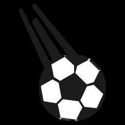 Pelota de futbol tiro silueta