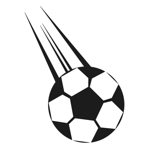 Football ball shot silhouette Transparent PNG