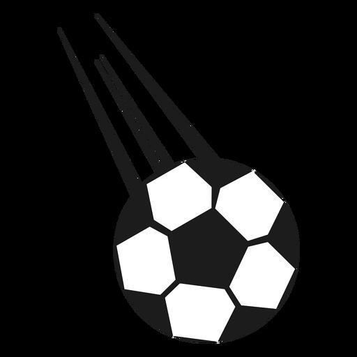 Pelota de futbol tiro silueta Transparent PNG