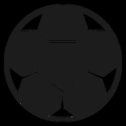 Silhueta de bola de futebol
