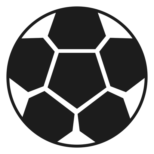 Football ball silhouette Transparent PNG