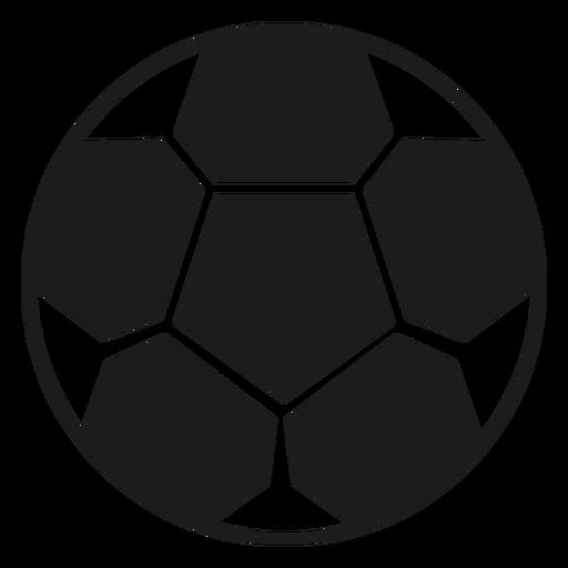 Silueta de pelota de futbol Transparent PNG