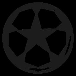Pelota de futbol estrella silueta