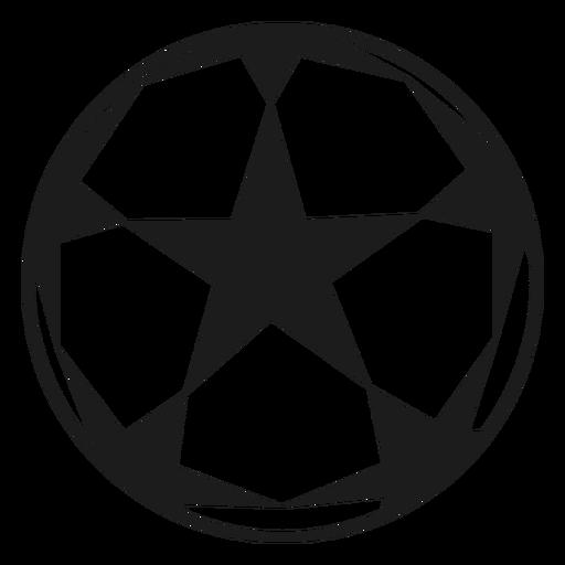 Pelota de futbol estrella silueta Transparent PNG