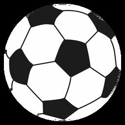 Ilustração de pentágono de futebol