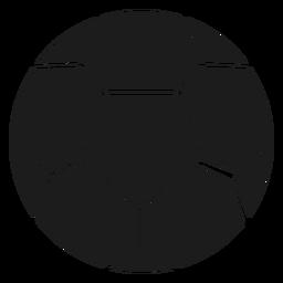Silhueta de pentágono de futebol