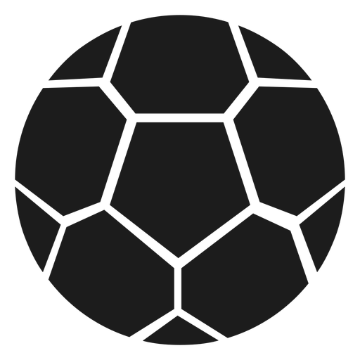 Football pentagon silhouette Transparent PNG