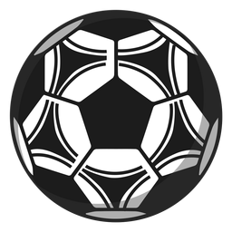 Ilustración de fútbol del pentágono fútbol