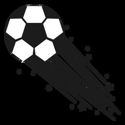 Silueta de tiro de fútbol