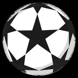 Ilustración de fútbol estrella de fútbol