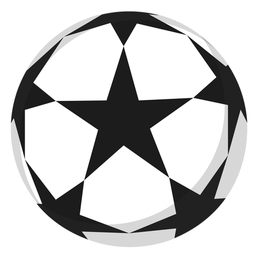 Fußballstar-Fußballillustration Transparent PNG