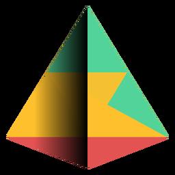 Geometría pirámide triángulo apex plano