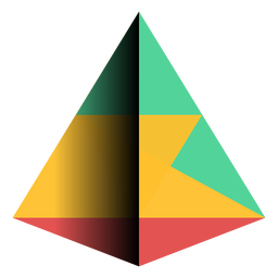 Geometry pyramid triangle apex flat