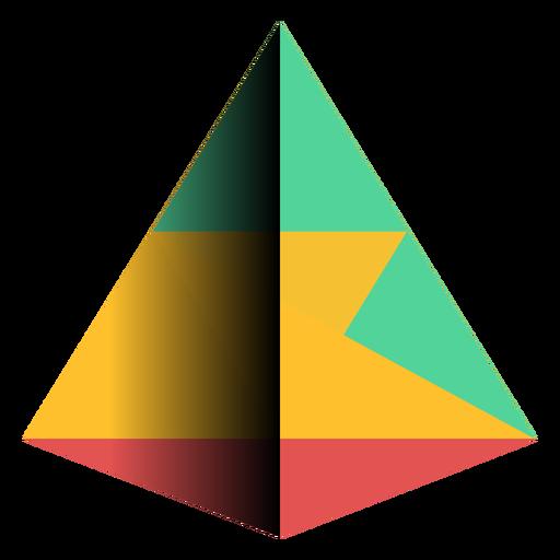 Geometría pirámide triángulo apex plano Transparent PNG