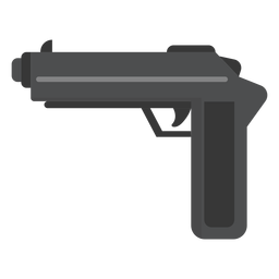 Gun weapon flat