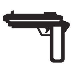 Gun weapon silhouette