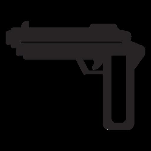Gun weapon silhouette Transparent PNG