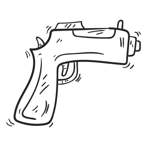Gun weapon sketch Transparent PNG