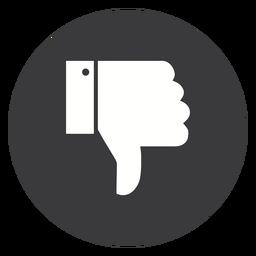 Hand dislike thumb cuff silhouette