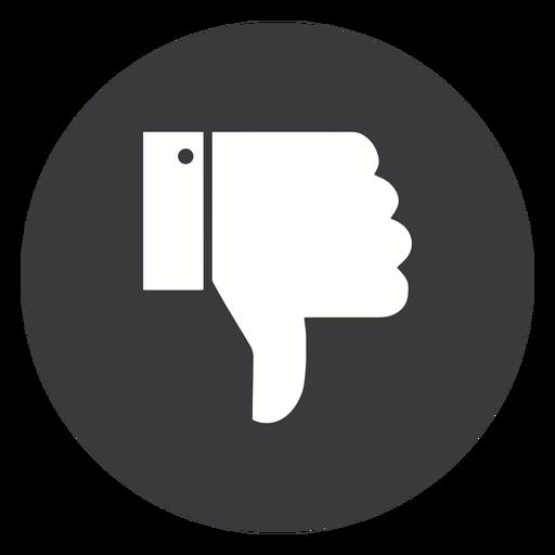 Mão não gosta de silhueta de punho de polegar Transparent PNG